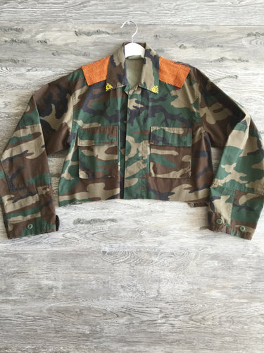 This or That Crop Jewel Army Jacket