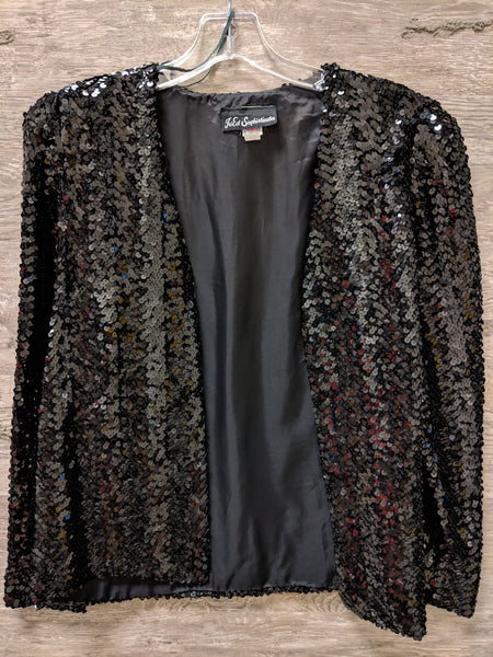 Jo Ed Sophisticates Black Sequin Jacket