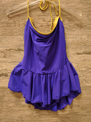 Sunstreak Purple and Gold One Piece Swimsuit