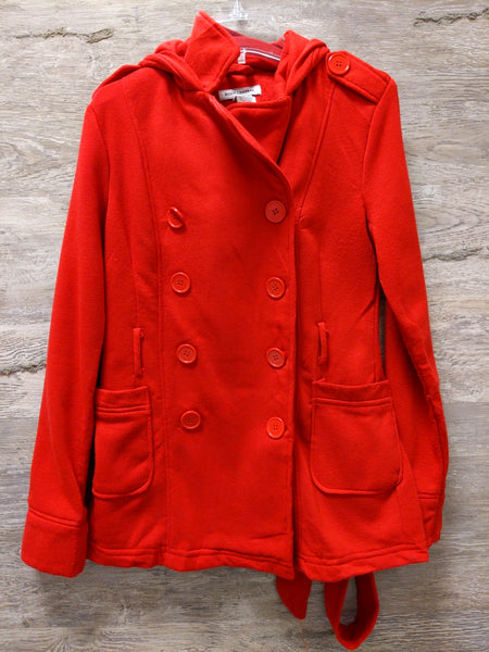 Body Central Red Belted Coat