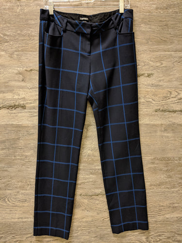 Express Blue Stripe Dress Pants