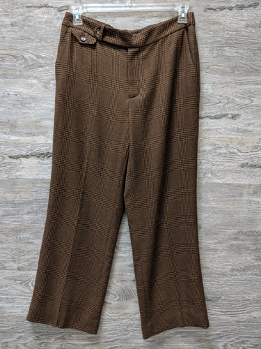 Ralph Lauren Brown Plaid Dress Pants