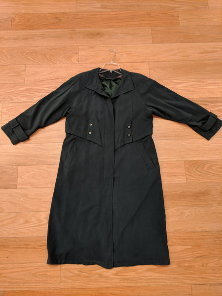 Indonesian Green Suede Extended Duster