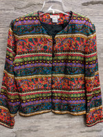 Talbots Decorative Paisley Button-Up Top