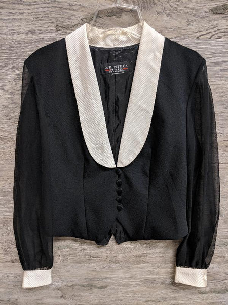 JR Nites Black and White Blazer Top