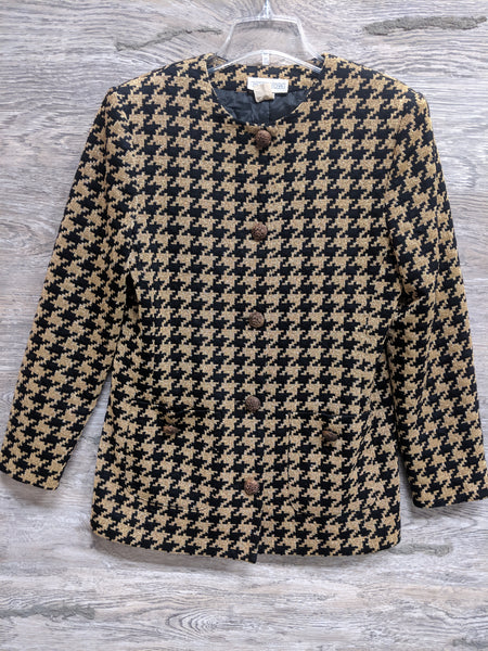 Horchow Black and Gold Blazer