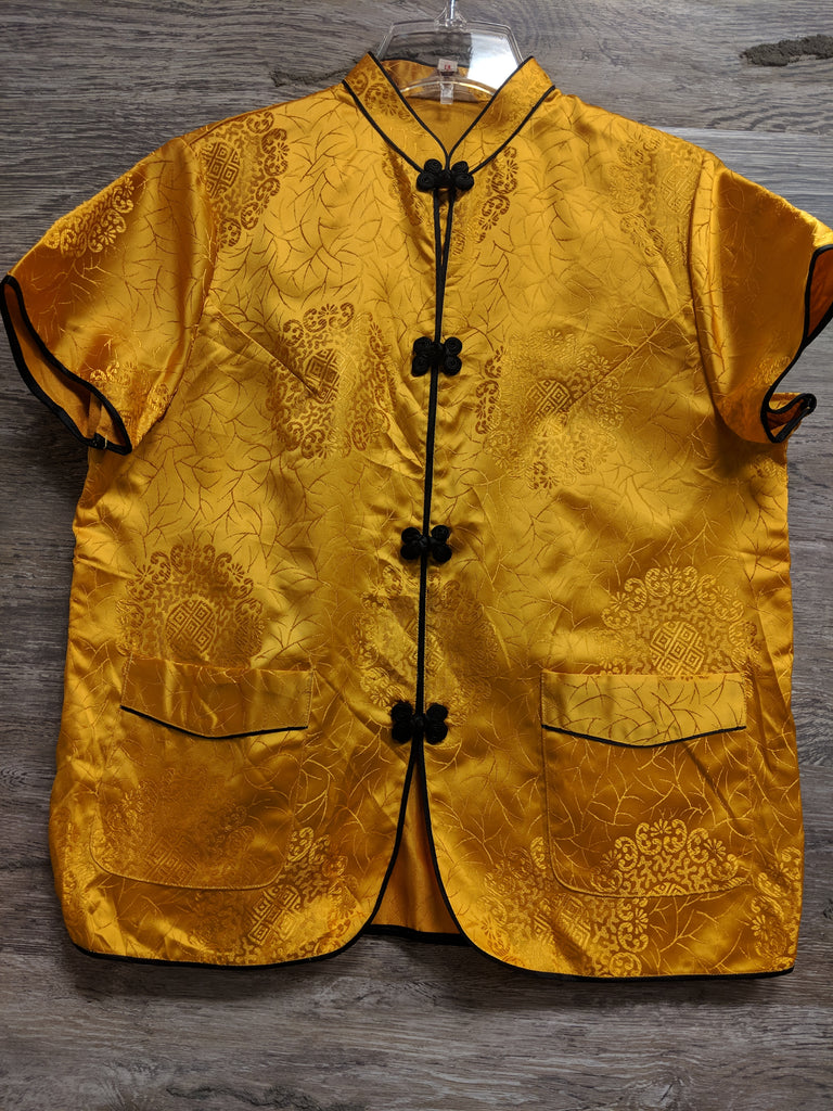 Exclusive Fashions Yellow and Black Blouse