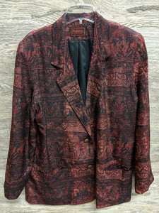 Patina Burgundy Tribal Blazer - Closet Freekz