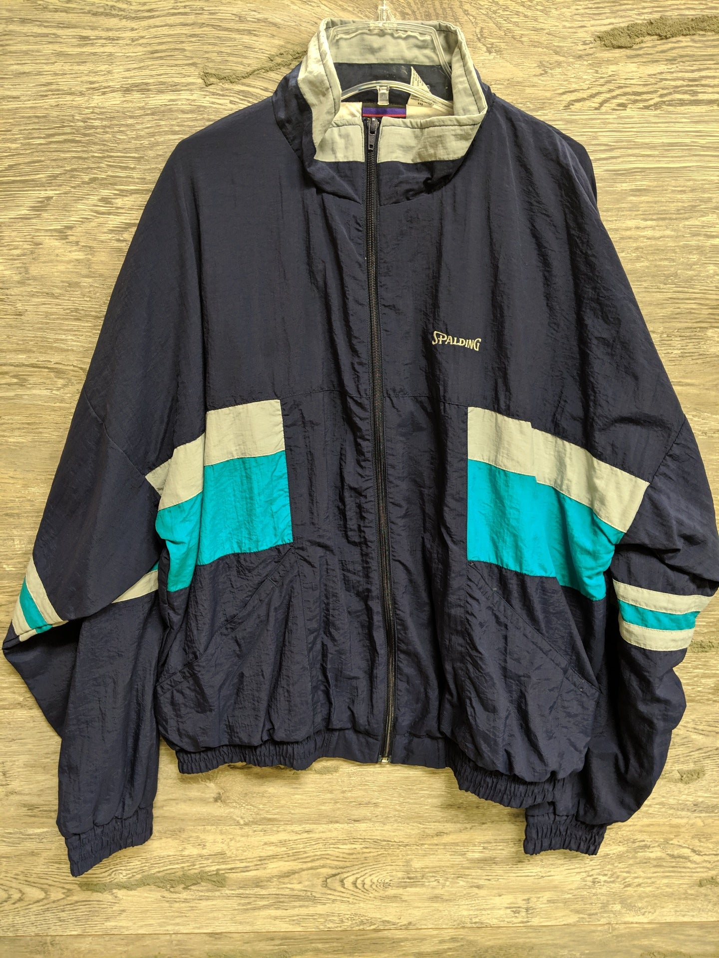 Spalding Blue Windbreaker