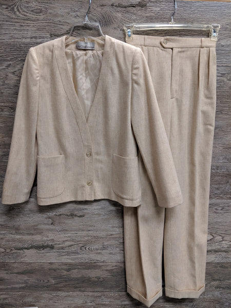 Liz Claiborne Cream Pants Suit