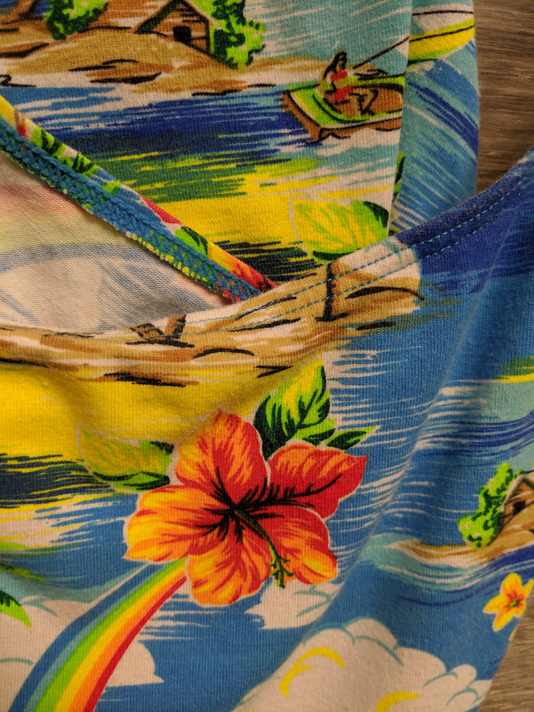 Sand N Sun Blue Aloha Swim Top