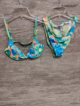 Tango Rose Blue and Green Floral Two Piece Swimsuit - Closet Freekz