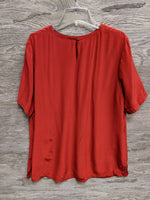 Kate Hill Dark Red Silk Dress Shirt