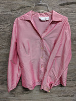 AS IS - Worthington Light Pink Long Sleeve Silk Button Up