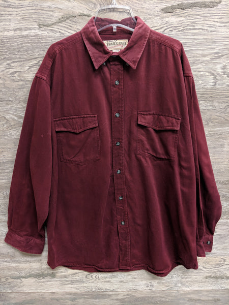 Trails End Maroon Button Up