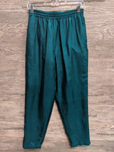 Ariel Green Silk Lounge Pants - Closet Freekz
