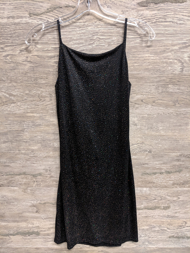 Celia Black Sequin Cross Back Dress