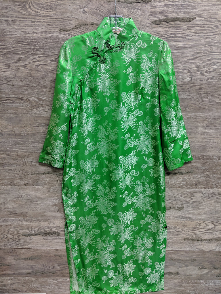 Xin Ya Green Floral Dress