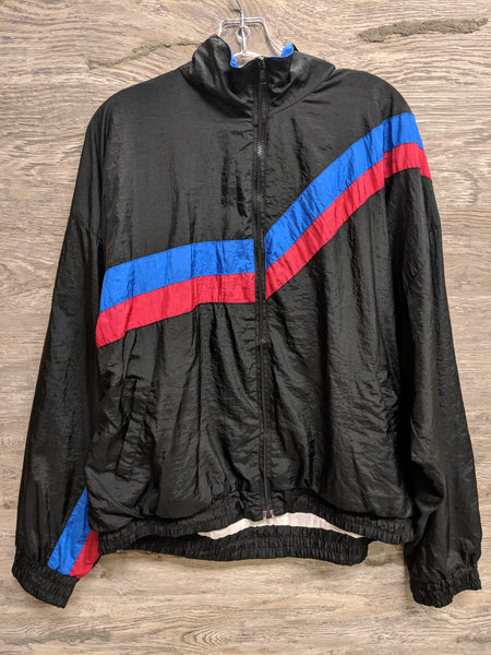 Active Wear Black Zip Windbreaker