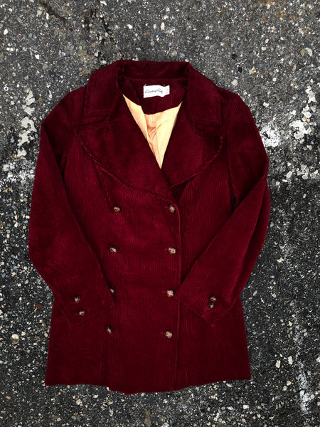 Country Set Burgundy Corduroy Winter Jacket