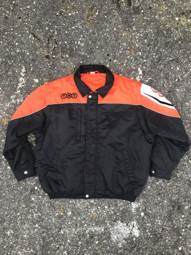 TNT Orange and Black Puffer Jacket - Closet Freekz