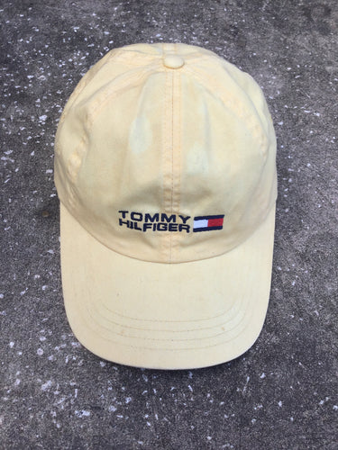Tommy Hilfiger Yellow Baseball Cap - Closet Freekz