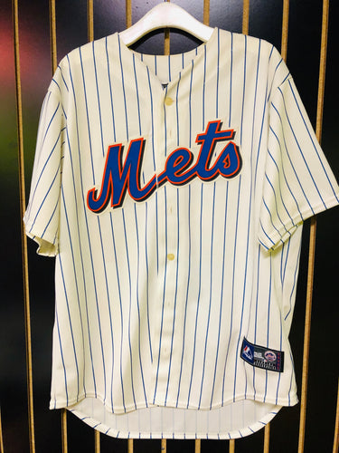 Retro Mets Pin Stripee Baseball Jersey
