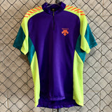 Descente Purple and Yellow Cycling Jersey