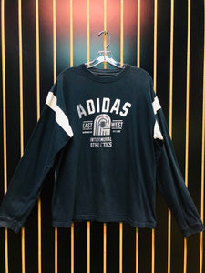 Adidas Navy Blue Long Sleeve Tee
