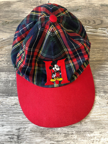Disney Red Plaid Mickey Baseball Cap - Closet Freekz