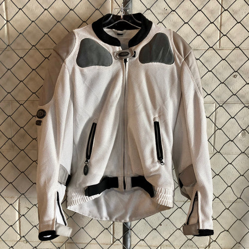 Cortech White and Silver Moto Jacket - Closet Freekz