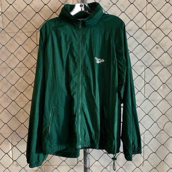 Reebok Green Athletic Windbreaker