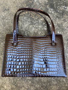 Don Lester Brown Alligator Skin Purse - Closet Freekz