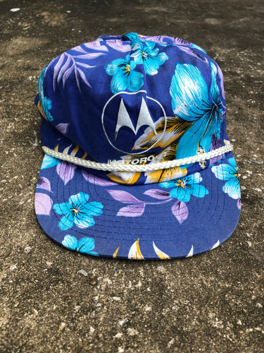 Motorola Purple Floral Hat - Closet Freekz