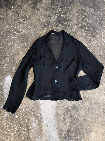 Charlie Black Sheer Blazer