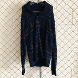 Nautica Blue and Brown Anchor Sweater