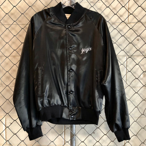 Auburn Black Satin Hobart Bomber - Closet Freekz
