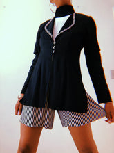 J.S.J. Black and White Stripe Romper - Closet Freekz