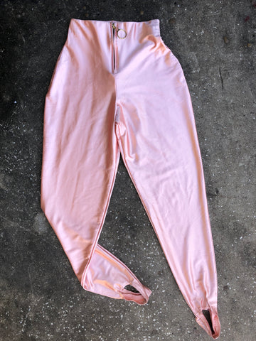 Zena Pink Satin Riding Pants