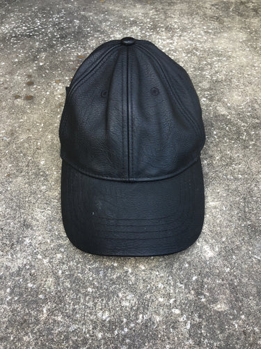 Abercrombie and Fitch Black Leather Cap - Closet Freekz