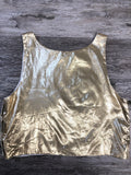 Gold Foil Crop Top