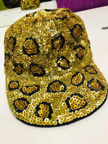 Leopard Sequin 90s Hat