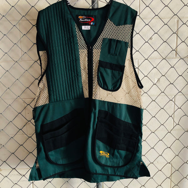 Pavillion Dark Green and Tan Mesh Vest