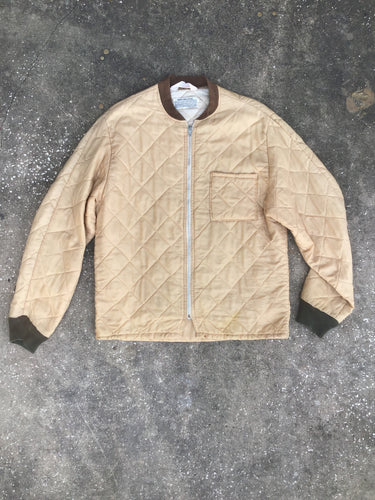 Dacron Tan Quilted Military Surplus Jacket - Closet Freekz