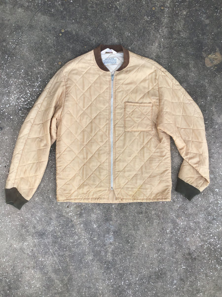 Dacron Tan Quilted Military Surplus Jacket