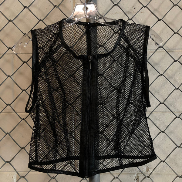 Little Mix Black Mesh Vest