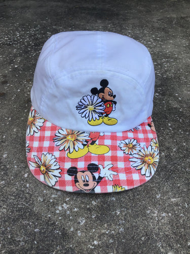 Mickey Unlimited White and Plaid Sunflower Cap - Closet Freekz