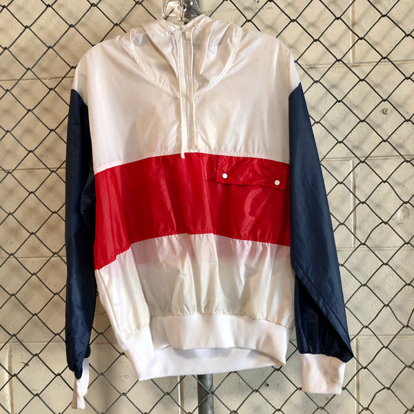 Piba Club White and Red Athletic Windbreaker