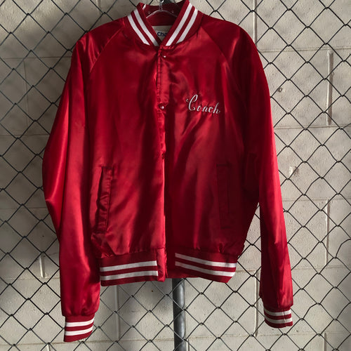 Chalk Line Red and White Satin Yeadon Athletic Bomber - Closet Freekz