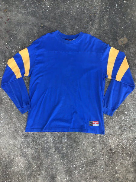Spalding Blue and Yellow Long Sleeve T-Shirt